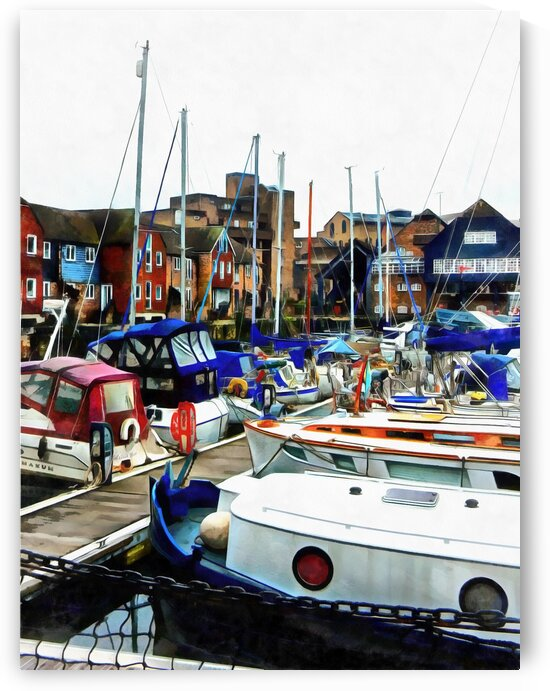 St Katharine Docks Boats 5 by Dorothy Berry-Lound