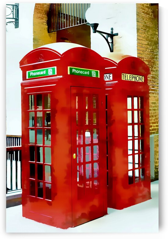 Two Red Telephone Boxes by Dorothy Berry-Lound