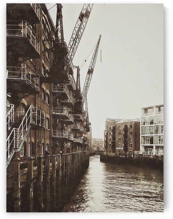 View of St Saviours Dock London by Dorothy Berry-Lound