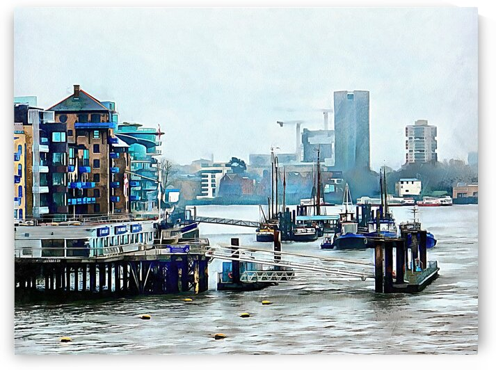 View From Tower Bridge London by Dorothy Berry-Lound