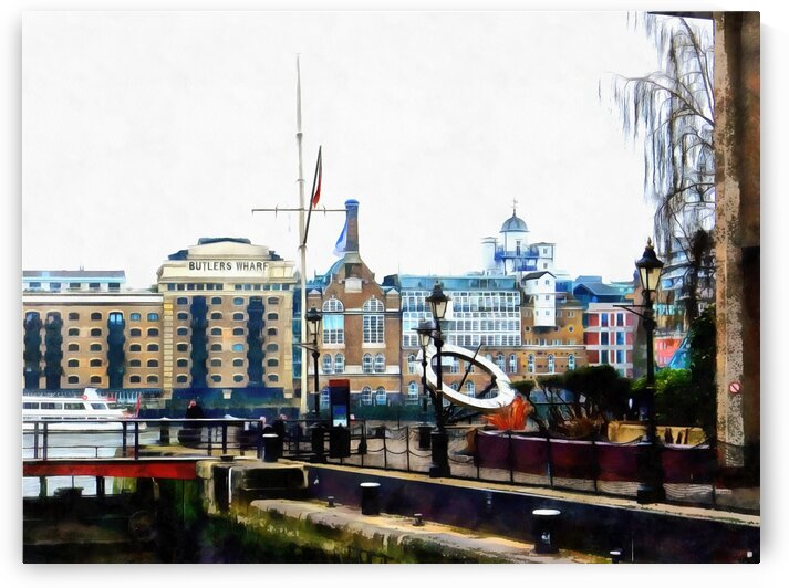 View From the Lock At St Katharine Docks by Dorothy Berry-Lound