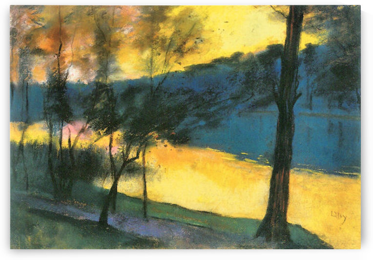 Landscape by Lesser Ury by Lesser Ury