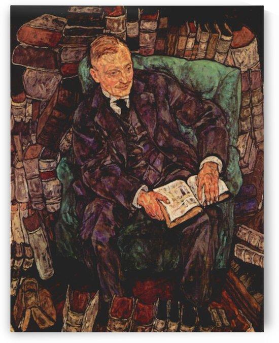 Portrait of Hugo Koller by Schiele by Schiele