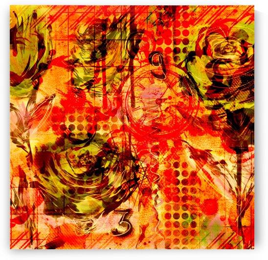 Orange Rose by Dali Graham