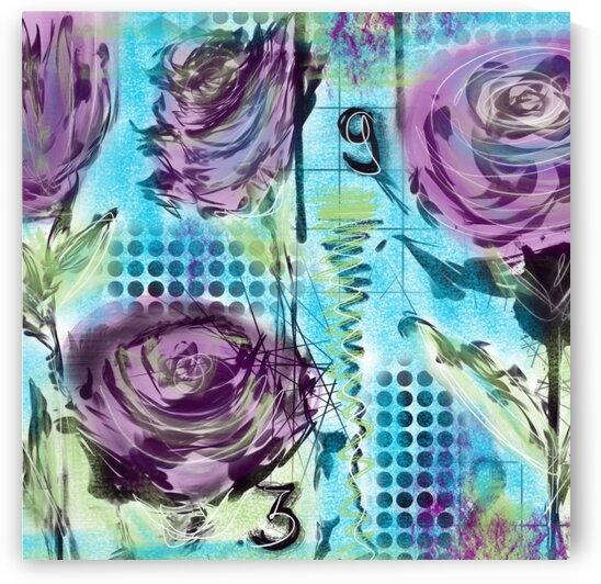 Purple Rose by Dali Graham
