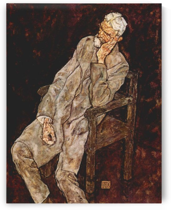 Portrait of Johan Harms by Schiele by Schiele