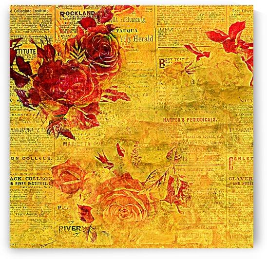 News Print Flower by Dali Graham