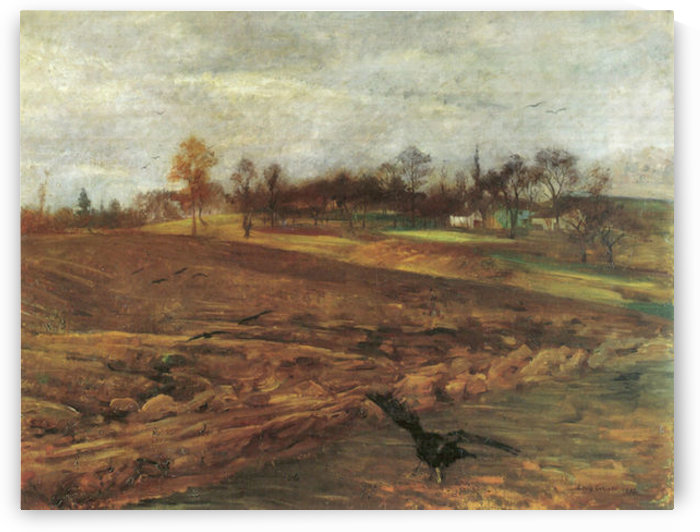Large landscape Ravens by Lovis Corinth by Lovis Corinth