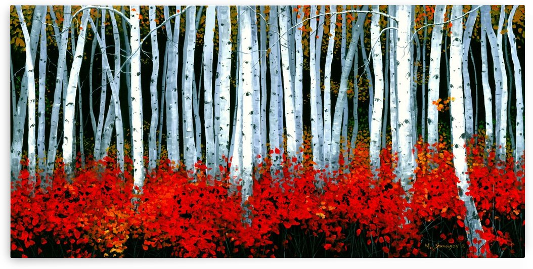 Autumn Aspens by SwansonArt