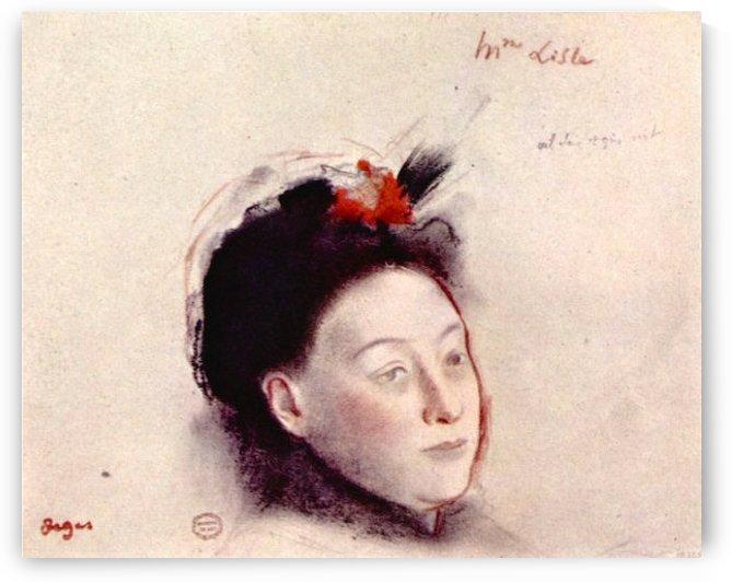 Portrait of Madame Lisle by Degas by Degas