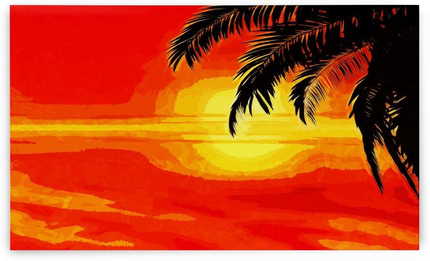 sunset under the Palm trees by Dagmar Marina
