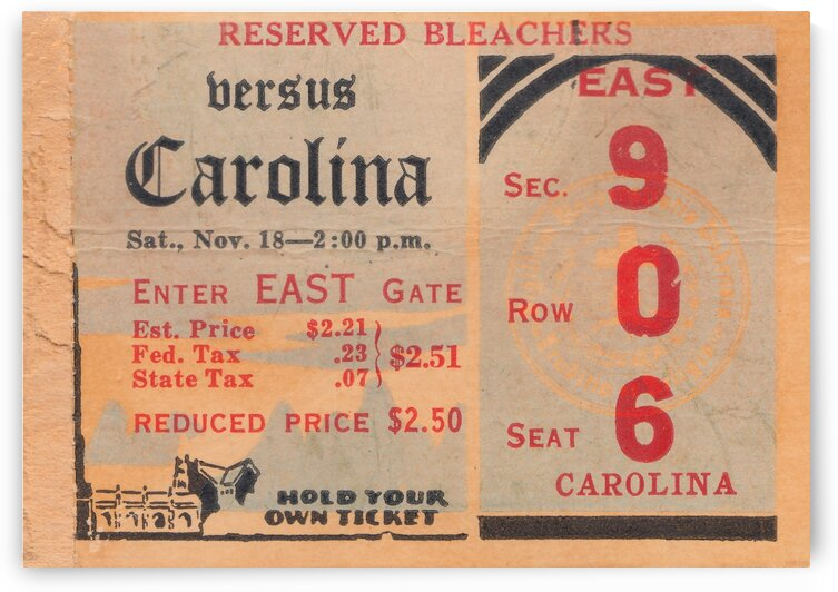 1939 North Carolina vs. Duke by Row One Brand