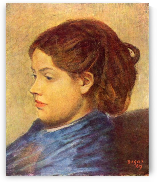 Portrait of Mademoiselle Dobigny by Degas by Degas