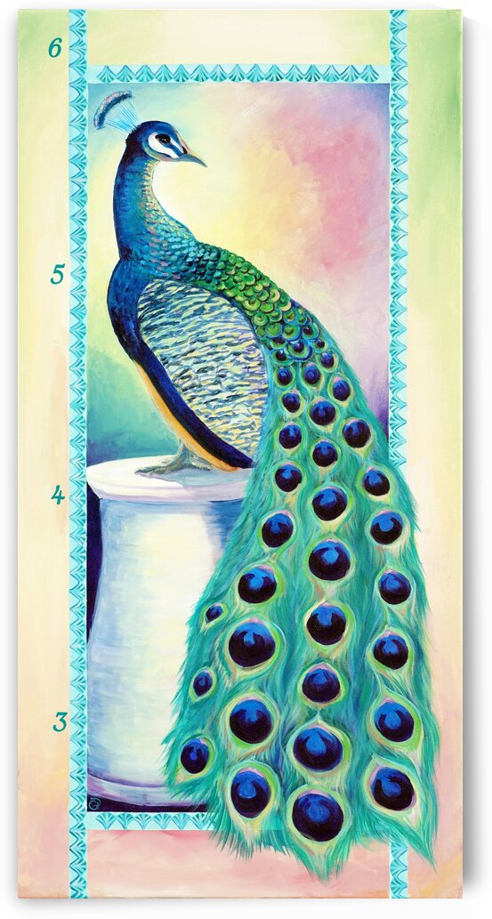 Bright Peacock Growth Chart by Geneva Price