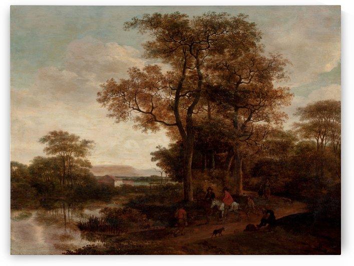 Landscape with Travelers Along a Roadway by Pieter Jansz van Asch