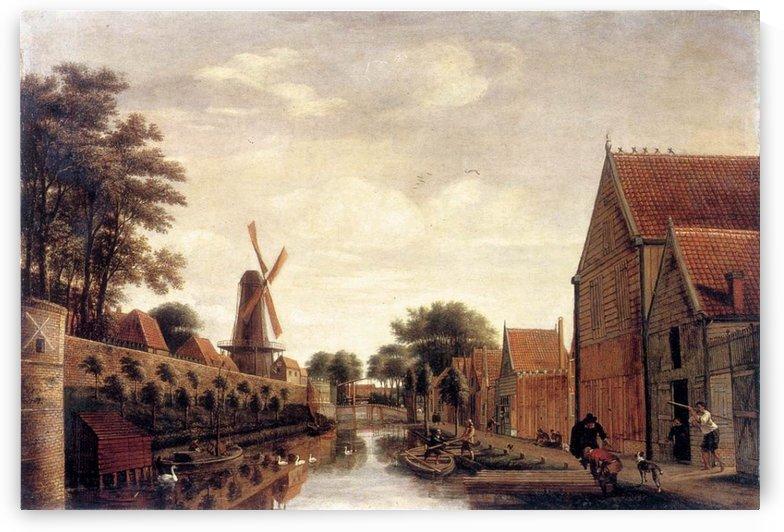 The Delft City Wall with the Houttuinen by Pieter Jansz van Asch