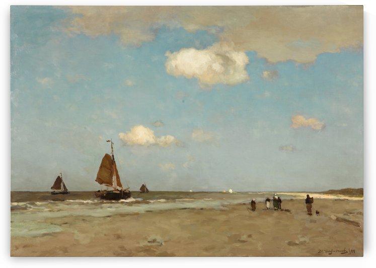 Dutch landscape with figures by Pieter Jansz van Asch