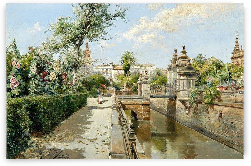 Garden in Seville by Manuel Garcia y Rodriguez