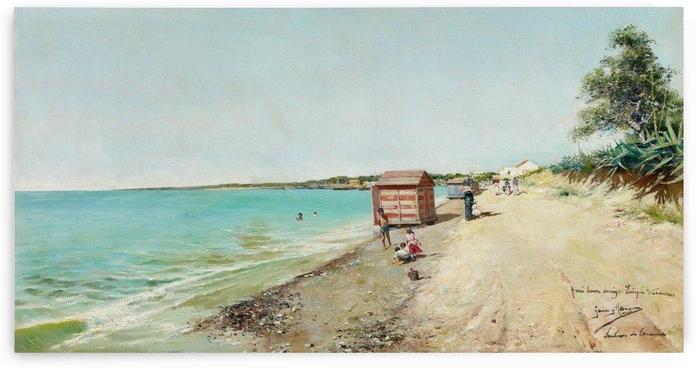 Playa de Sanlucar de Barrameda by Manuel Garcia y Rodriguez