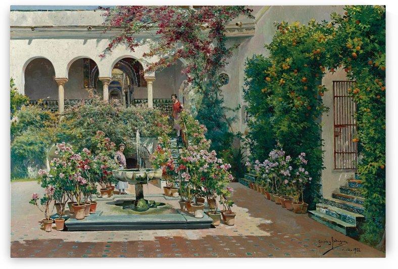 A courtyard in Seville by Manuel Garcia y Rodriguez