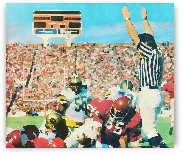 1977 Owen Field Oklahoma Football Art by Row One Brand
