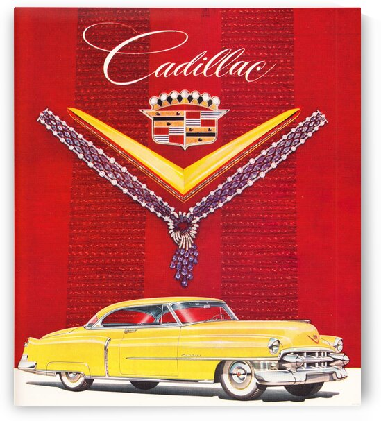 1953 Vintage Cadillac Advertisement by Row One Brand