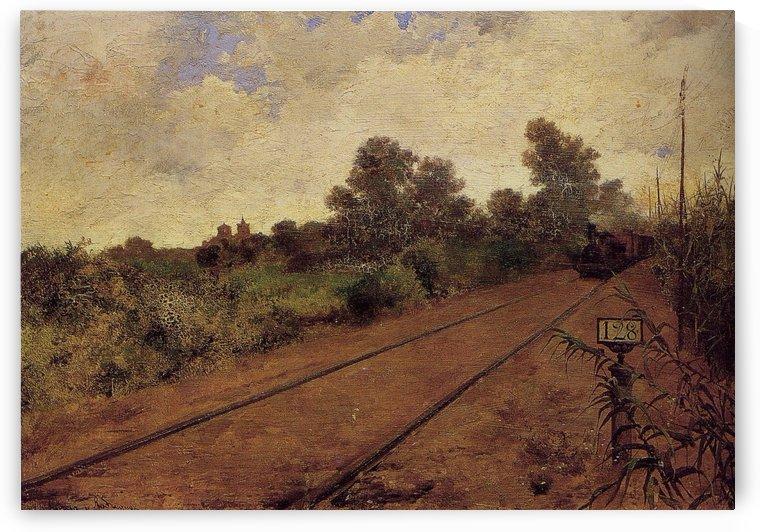 Tren el tramo Alcala-Gandul by Manuel Garcia y Rodriguez