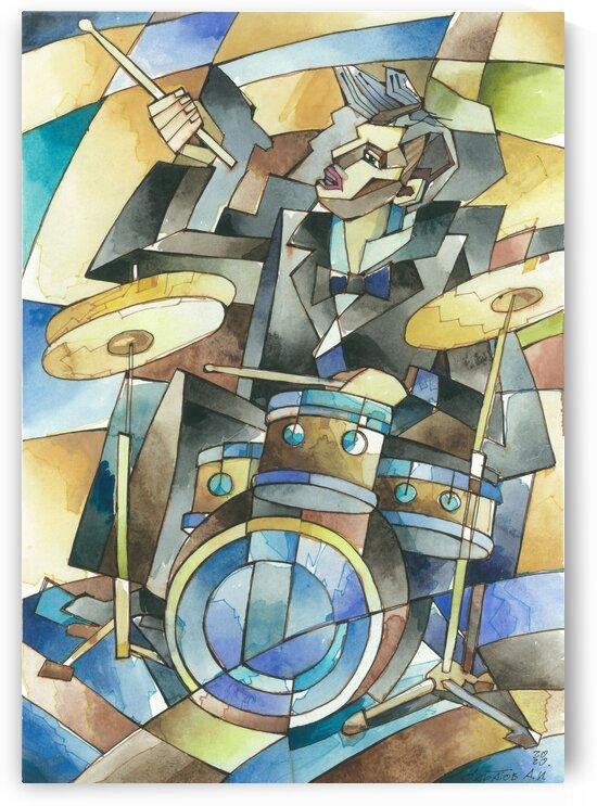 Drummer -Jazz series by Andrey Saratov