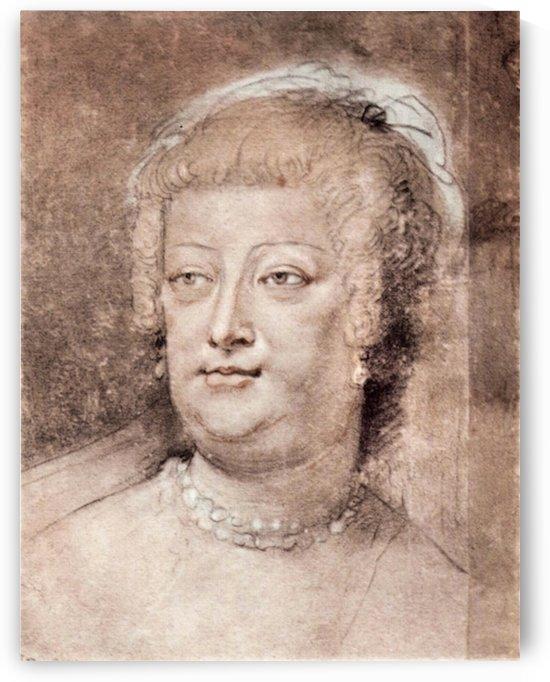 Portrait of Maria de Medici by Rubens by Rubens