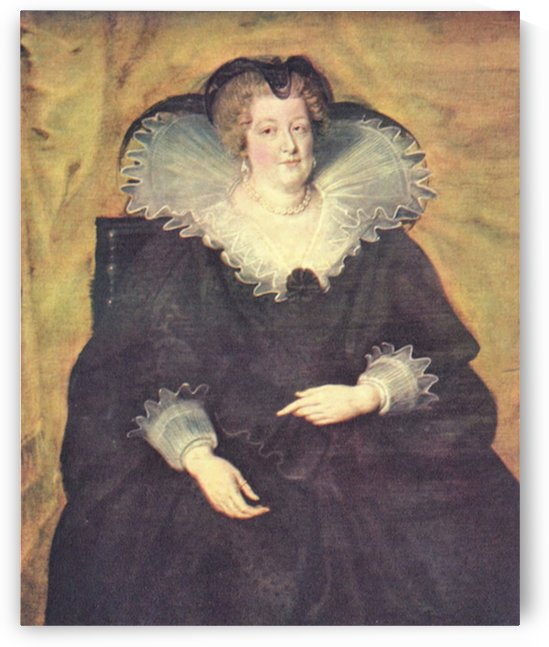 Portrait of Maria de Medici Queen of France by Rubens by Rubens