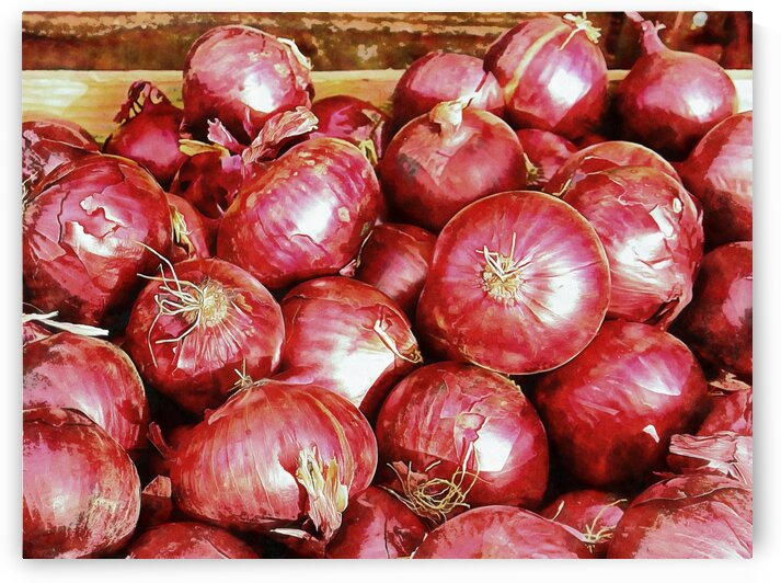 A Riot of Red Onions by Dorothy Berry-Lound