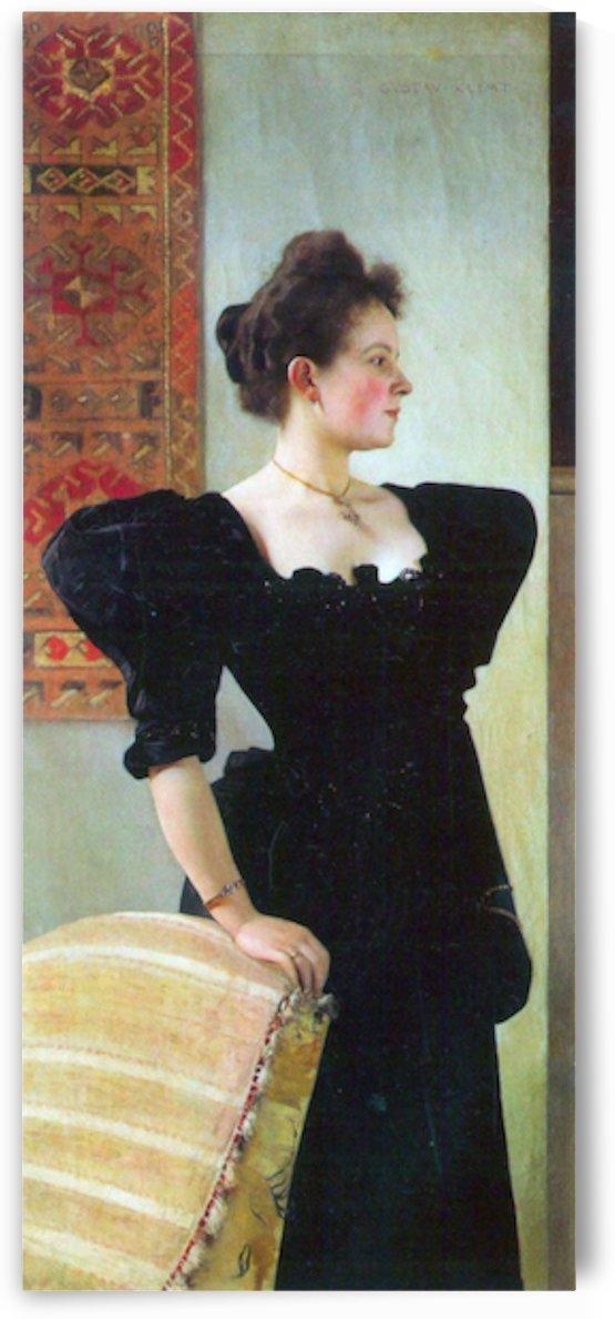 Portrait of Marie Breunig by Klimt by Klimt