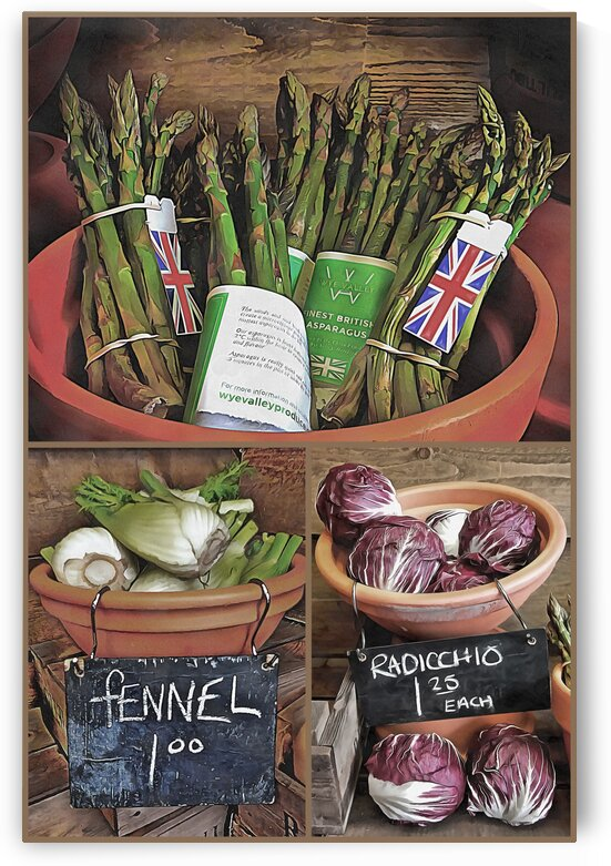 Vegetable Kitchen Collage by Dorothy Berry-Lound