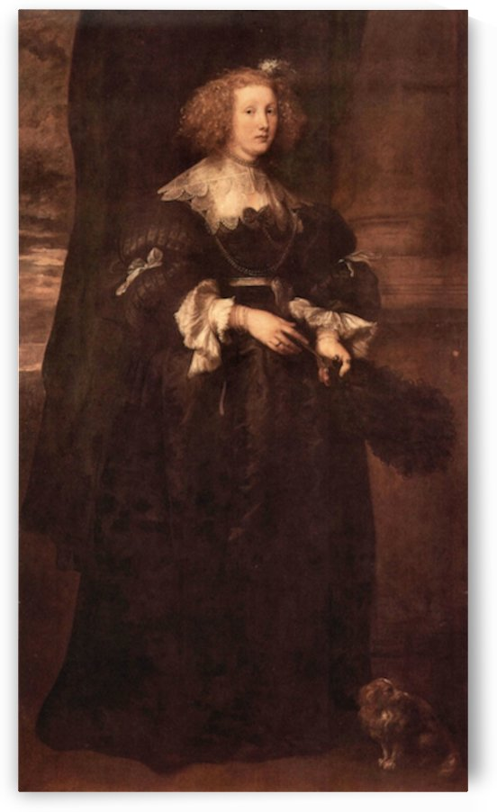 Portrait of Marie de Raet by Van Dyck by Van Dyck