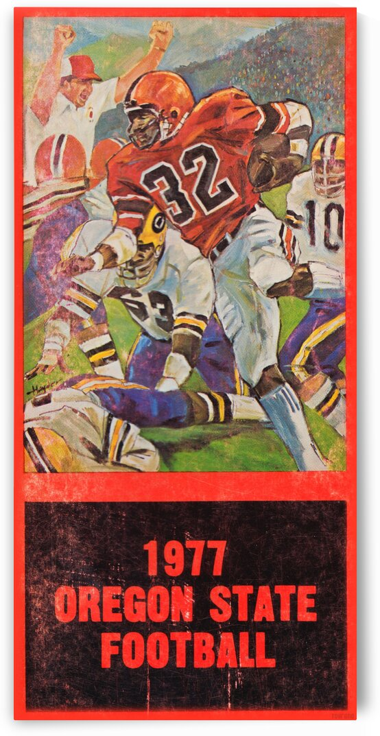 1977 Oregon State Football Art by Row One Brand