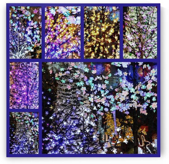 Christmas Lights Collage by Dorothy Berry-Lound
