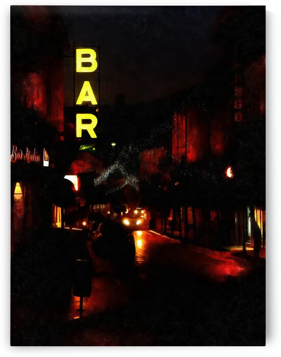 Street Christmas Decorations and Bar Sign by Dorothy Berry-Lound