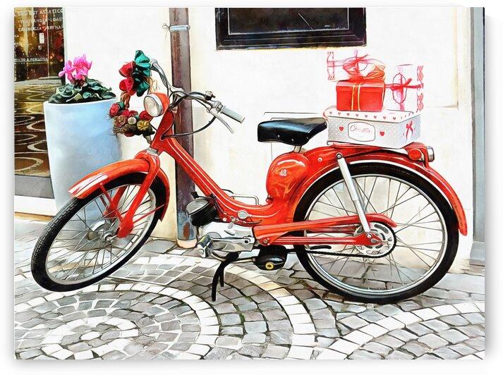 Christmas Lambretta by Dorothy Berry-Lound