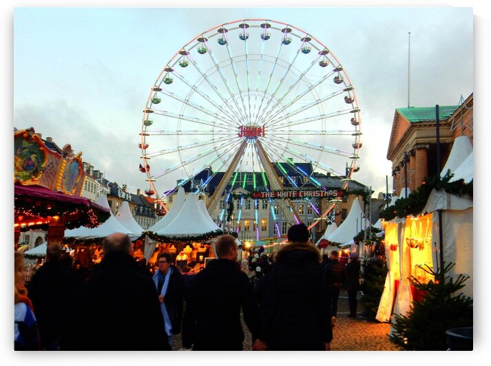 Christmas Market with Ferris Wheel 2 by Dorothy Berry-Lound