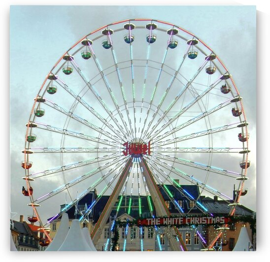 Christmas Market with Ferris Wheel by Dorothy Berry-Lound
