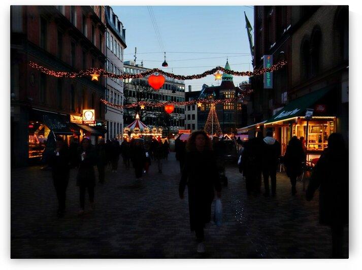 Twilight Christmas Lights Copenhagen by Dorothy Berry-Lound