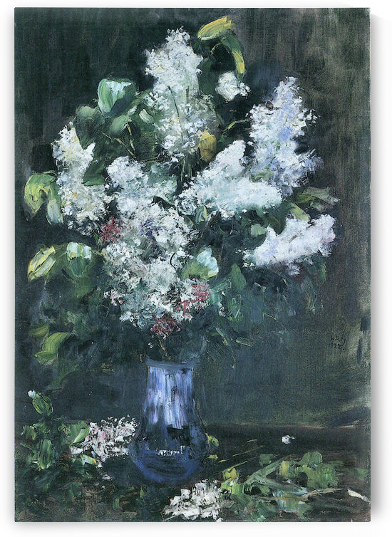 Lilacs by Lesser Ury by Lesser Ury