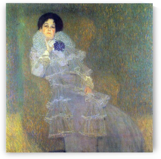 Portrait of Marie Henneberg (portrait in purple) by Klimt by Klimt