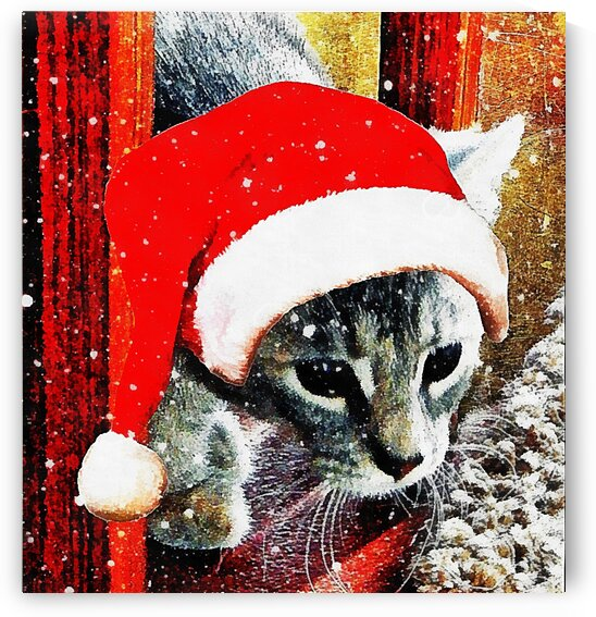 Stevie Mouse as Cat Santa by Dorothy Berry-Lound
