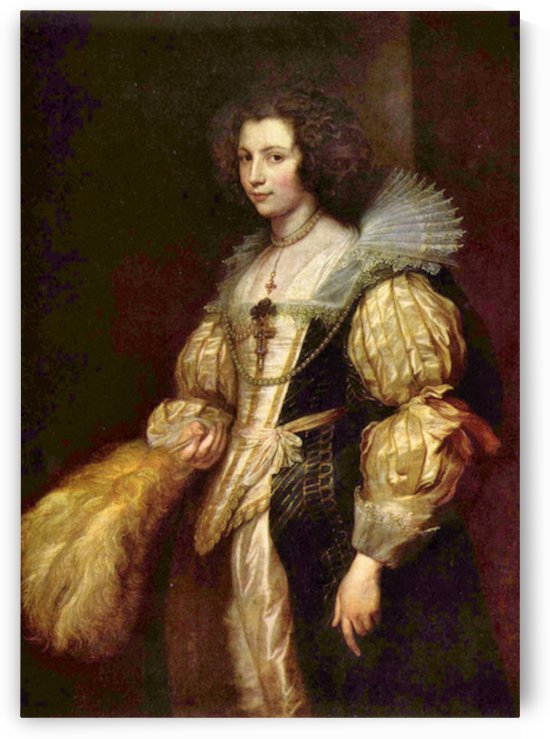 Portrait of Marie-Louise de Tassis by Van Dyck by Van Dyck