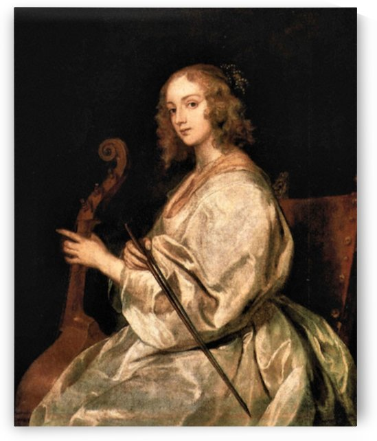 Portrait of Mary Ruthven, wife of the artist by Van Dyck by Van Dyck
