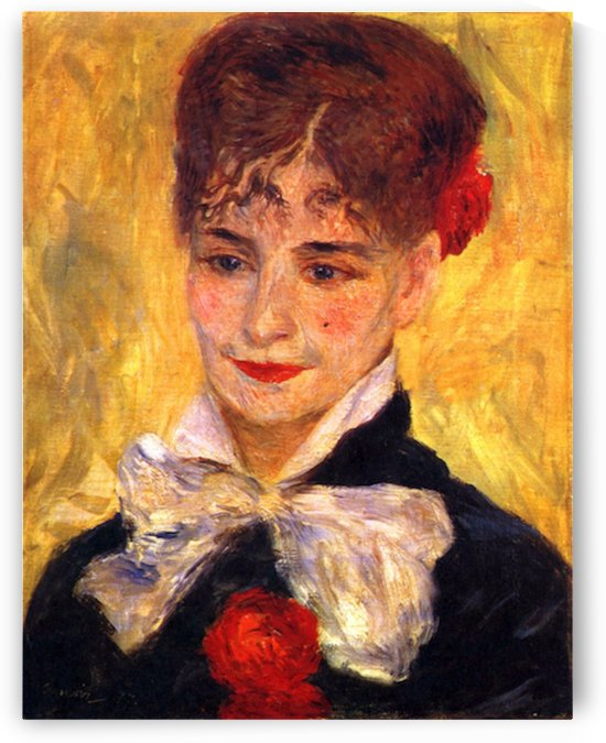 Portrait of Mme  Iscovesco by Renoir by Renoir