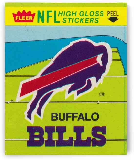 1981 Buffalo Bills Fleer Decal Art by Row One Brand