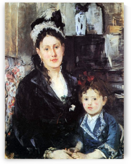 Portrait of Mme Boursier and Daughter by Morisot by Morisot