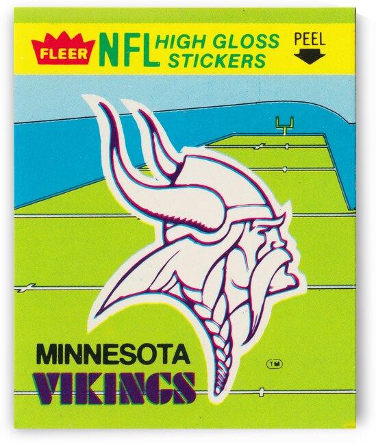 1981 Minnesota Vikings Fleer Sticker by Row One Brand